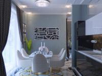 Проект гостиной элитной квартиры в Геленджике